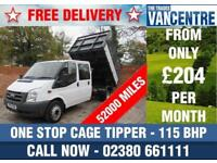 FORD TRANSIT 350 1 WAY TIPPER DOUBLE CAB 115 BHP CAGE 6 SEATS