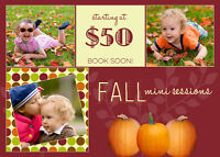 Fall Mini Sessions - Multiple Dates - Only $50 for 25 minutess
