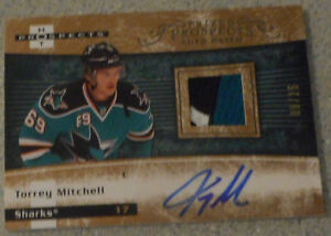 Torrey Mitchell , 2007-08 , Hot Prospects Autographed Patch