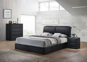 SPECIAL new PU leather bed 2 drawer black UP TO 30MTH NO INTERES Bundall Gold Coast City Preview