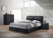 new PU leather designer bed 2 drawer black UP TO 30MTH NO INTERES Bundall Gold Coast City Preview