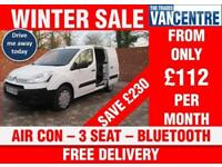 CITROEN BERLINGO 625 L1 H1 ENTERPRISE SWB AIR CON BLUETOOTH 3 SEATS