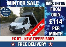 FORD TRANSIT 350 MWB TIPPER 2.4 TD EX BT NEW BODY MK7 WAS £6170 SAVE £300