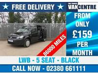 VW CADDY C20 KOMBI MAXI LWB 102 BHP BLACK 5 SEATS