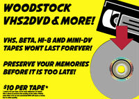 Woodstock VHS2DVD Transfer and More!