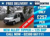 FORD TRANSIT 350 DOUBLECAB TIPPER 1 WAY LWB 125 BHP NEW ALLOY TIPPER