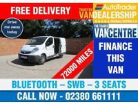 VAUXHALL VIVARO 2700 CDTI SWB 115 BHP BLUETOOTH 3 SEATS