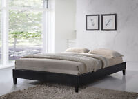 Faux Leather Upholstered Low Profile Platform Bed! FREE DELIVERY