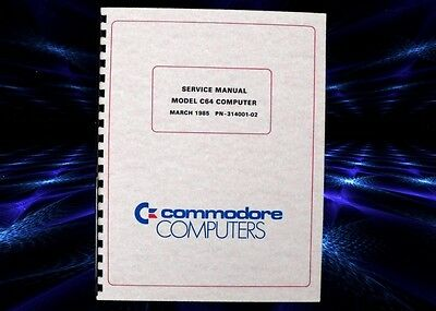 COMMODORE 64 C64 Computer Owners Service Manual With Schematics