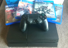 PS4 500gb 4 Games 1 Controller Playstation 4 Gaming Console