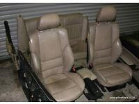 BMW E46 Coupe Cream / Sand Beige Heated Leather M Sport Seats Interior 318ci 323ci 328ci 330ci