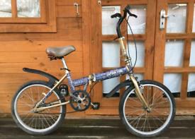 "Captain Stag folding single speed bike. 20"" wheels"