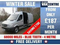 MERCEDES BENZ SPRINTER 313 CDI EXTRA LWB 4 METRE 129 BHP WAS £10470 SAVE £700