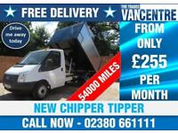 FORD TRANSIT 350 1 WAY TIPPER MWB 125 BHP NEW CHIPPER TIPPER 3 SEATS