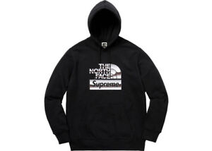 Supreme The North Face Metallic Logo Hooded Sweatshirt Black