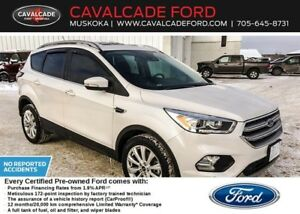2017 Ford Escape Titanium -AWD 1.9%/72 FORD CERTIFIED PREOWNED