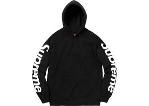 Supreme Sideline Hooded Sweatshirt Black Size L