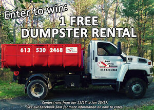 WIN A FREE DUMPSTER WITH 1 TON OF WASTE!