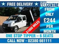 FORD TRANSIT 350 DOUBLE CAB ONE WAY TIPPER LWB 100 BHP 6 SEATS