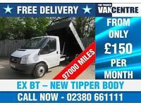 FORD TRANSIT 350 MWB 1 WAY TIPPER EX BT NEW TIPPER BODY 3 SEATS