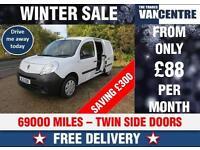 RENAULT KANGOO LWB MAXI LL21 DCI 90 TWIN SIDE LOADING DOORS WAS £4670 SAVE £200