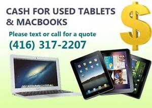 Want To Trade Your Old Macbook or iPad for CASH? Please Call or Text Me!