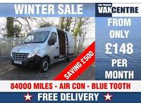 RENAULT MASTER MWB 35 DCI AIR CON BLUE TOOTH 100 BHP WAS £8170 SAVE £500