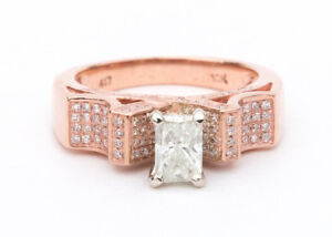 Stunning Brand New Rose Gold and Diamond Ring