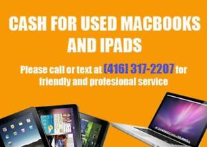 GET CASH FOR YOUR MACBOOKS and IPADS!