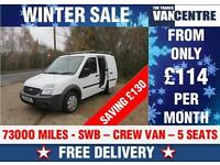 FORD TRANSIT CONNECT 220 SWB CREWVAN 5 SEATS WAS £6000 SAVE £130
