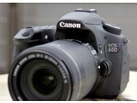 Canon 60D DSLR Camera - Low Shutter Count 2x Batteries