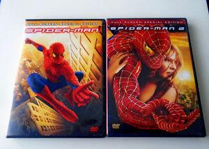 DVD Movies - Spiderman I & II, The Mummy I & II