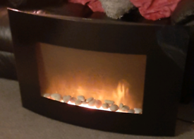 Wall Mounted Electric Fire with Peebles