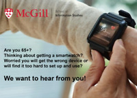 Older Adult Volunteers (65+) Needed for McGill University Survey