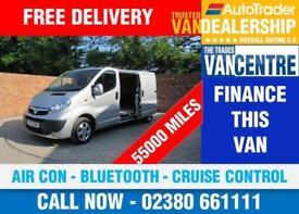 VAUXHALL VIVARO 2900 SPORTIVE LWB 115 BHP AIR CON BLUETOOTH 3 SEATS
