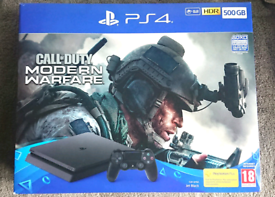 PS4 Slim Modern Warfare Call of Duty Playstation 4 Gaming Console COD