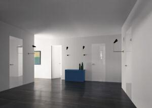 5 PORTES ARCHITECTURAL MINIMALISTE BLANCHE HAUT GAMME