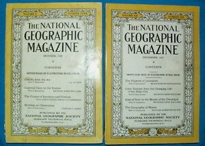 4 NATIONAL GEOGRAPHY MAGAZINES (1920, 21, 26, 27)