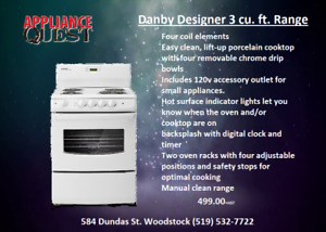 Scratch and Dent Danby Apartment Size Range