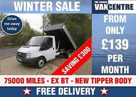 FORD TRANSIT 350 MWB TIPPER 2.4 TD EX BT NEW BODY MK7 WAS £7470 SAVE £300