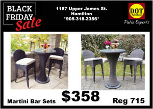 Resin Wicker Bar Sets-Black Friday Blowout