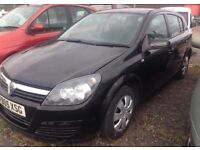 05 plate vauxhall Astra 5 door 1.7 CDTI ( DIESEL ) high miles but drives fine hence price