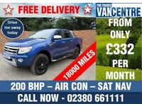 FORD RANGER 3.2 TDCI LIMITED DOUBLE CAB LWB 200 BHP AIR CON SAT NAV 6 SEATS