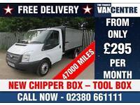 FORD TRANSIT 350 2.2 TDCI MWB 1 WAY TIPPER 125 BHP NEW CHIPPER BOX TOOL BOX