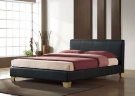 NEWLY ARRIVED SINGLE/DOUBLE & KING SIZE LEATHER BEDS WITH SAME DAY DELIVERY(BLACK & BROWN COLOURS)