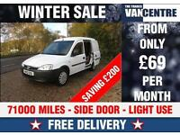 VAUXHALL COMBO 1700 1.3 CDTI SIDE LOADING DOOR LIGHT USE WAS £3670 SAVE £200