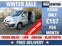 VAUXHALL VIVARO LWB 2900 SPORTIVE AIR CON BLUTOOTH WAS £8770 SAVE £600