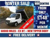 FORD TRANSIT 350 MWB TIPPER 2.4 TD EX BT NEW BODY MK7 WAS £8000 SAVE £330