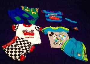 A lot of baby boy clothes