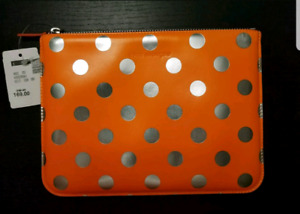 New Comme Des Garcons Polka Dots Wallet/Tablet Bag